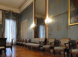 Голубой салон баварских королев в Нимфенбургском дворце